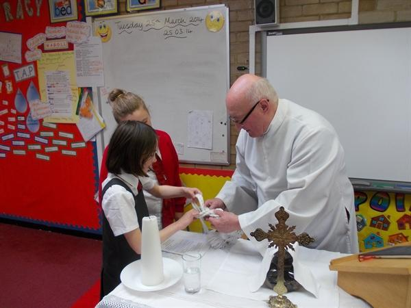 Father Berry doing our class Mass!