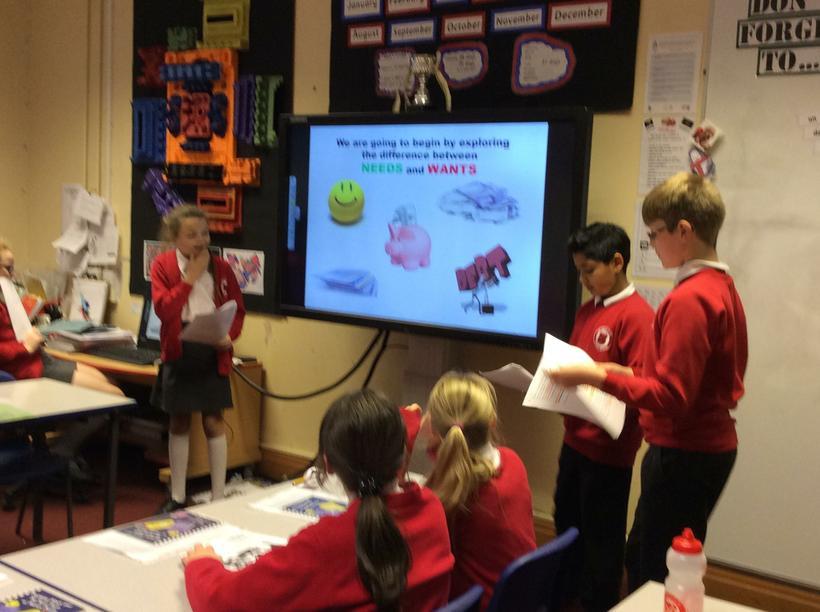 The children talked us through a powerpoint.