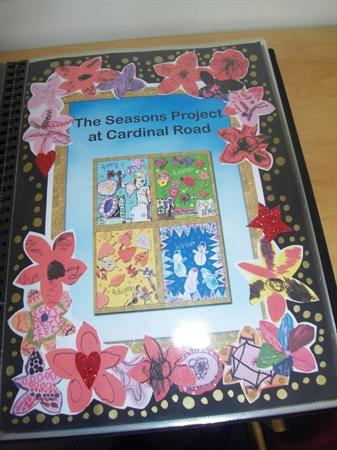 Seasons Artwork Book created by the children