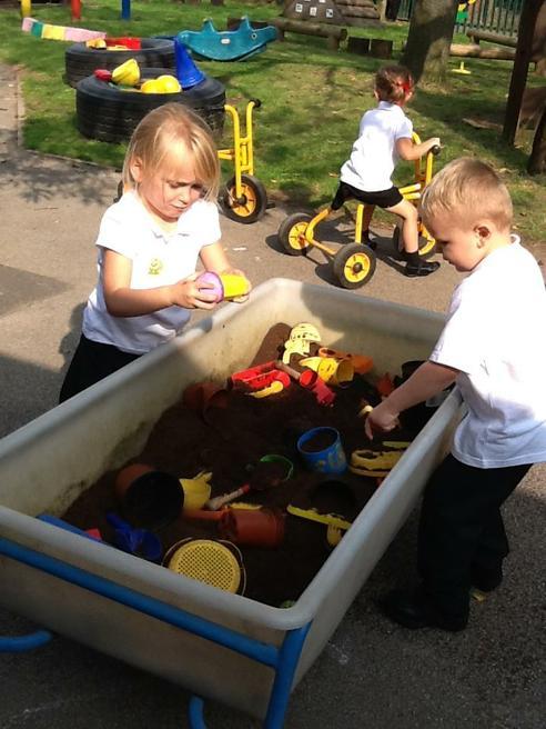 Fun digging in mud