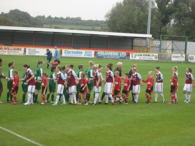 Before the match, showing respect!