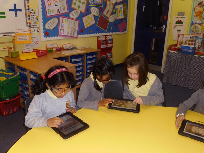 ''We used the I pads to help us double numbers'