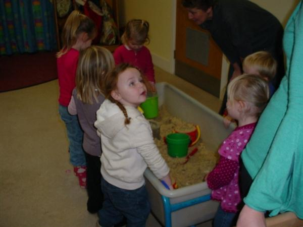 Buckets and spades in the sand was great fun