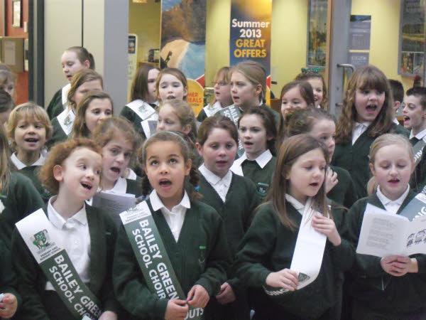 Bailey Green school choir sang beautifully
