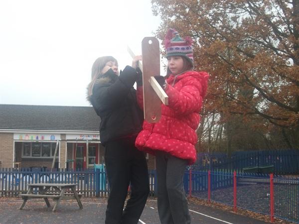 Emily and Rhean Measuring Latitude