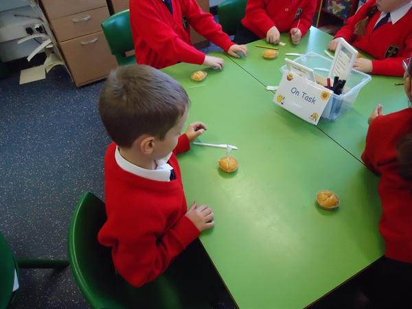 Maths-Finding fractions of cakes. Yummy!