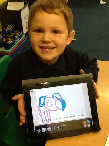 We recorded our characters thoughts on the IPads!