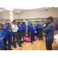 Walter Tull poetry workshop with Abe Gibson.