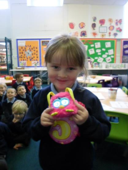 This was a birthday present.  A Furby Wow!