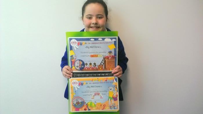 Amelia - gymnastics awards!