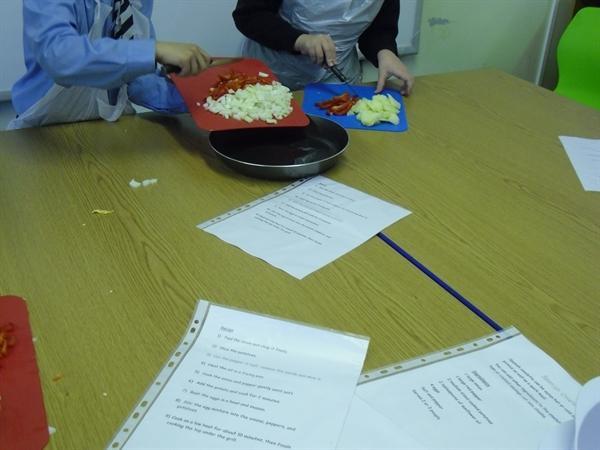 Making Spanish Omlette