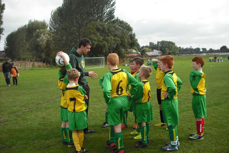 An inspirational team talk by Mr Wyatt