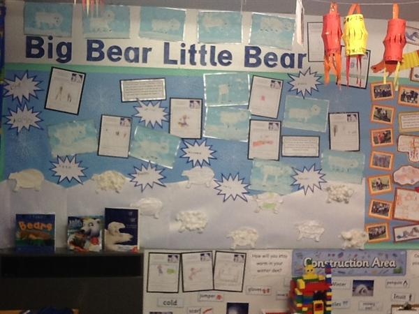 Our Big Bear, Little Bear display board.