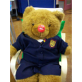 The attendance bear joins in the fun.