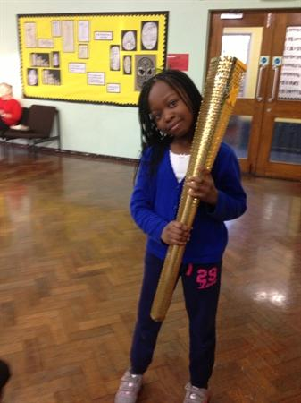 Holding an Olympic Torch