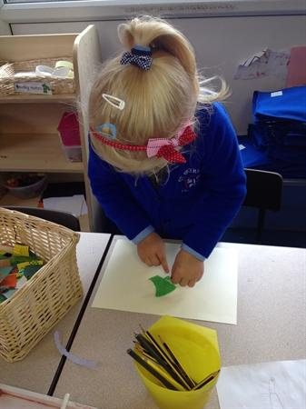 We love to make things in our Creative Area!