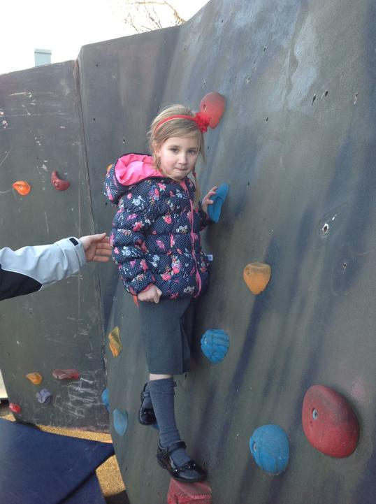 Look at us climb! It was good fun!
