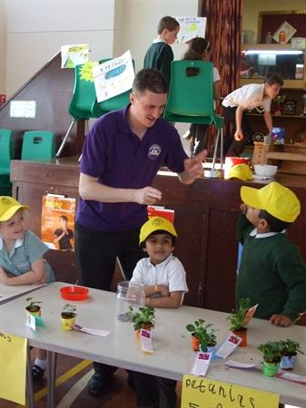 Foundation stage children grew plants to sell