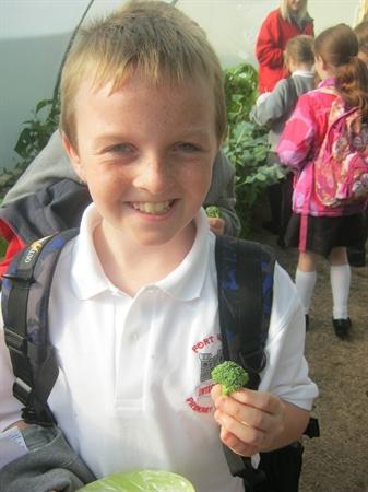 Danny found some broccoli!