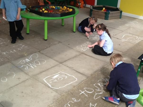 Phonics lesson outdoors!