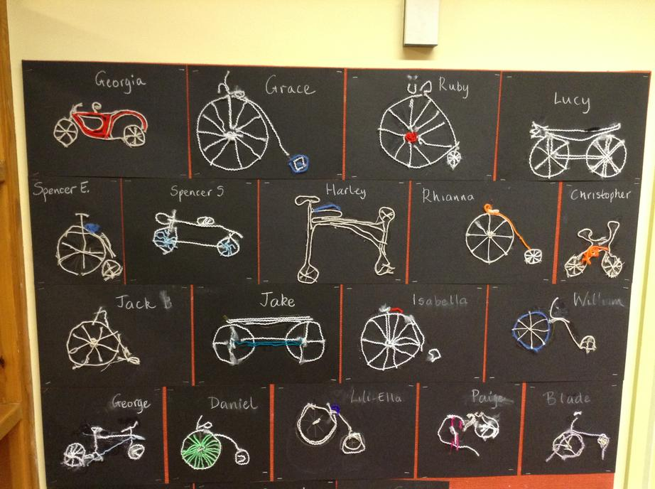 Bicycles made from string!