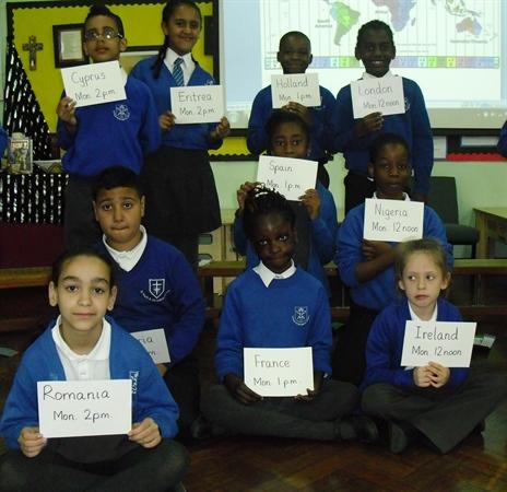 Our class assembly on world times.