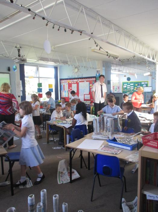 A very messy and busy classroom