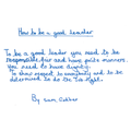 How to be a good leader by Sam Godber