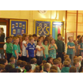 Year 4 performed a fantastic rap