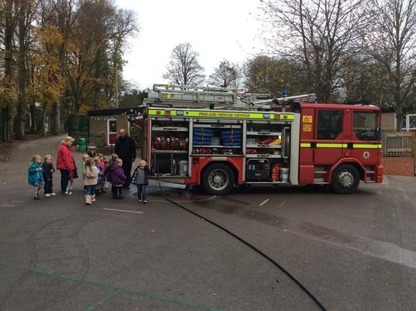 The fire fighters came to to school