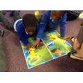 We can programme the bee-bot to move around a map!