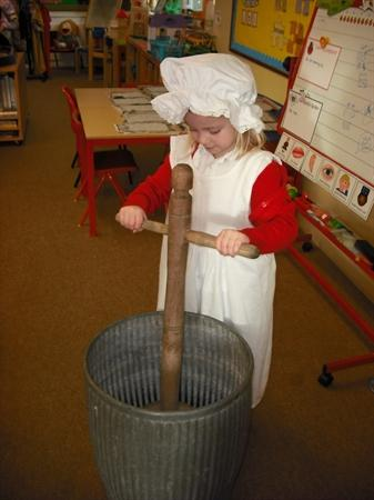 History - homes - playing with a dolly tub!