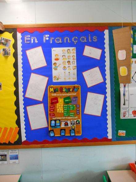 A Year 3 French classroom display.