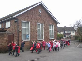 Side view of school hall