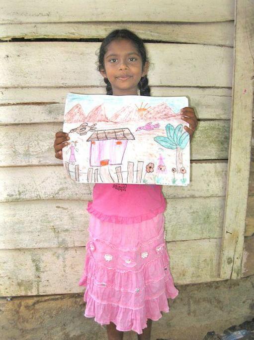 Hiruni at home in Sri Lanka
