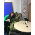 It even popped into the staff toom for a cuppa!
