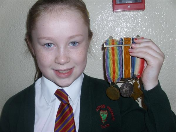 Remembrance - World War One Medals On Show