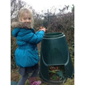 ....the final visit to the compost bin!