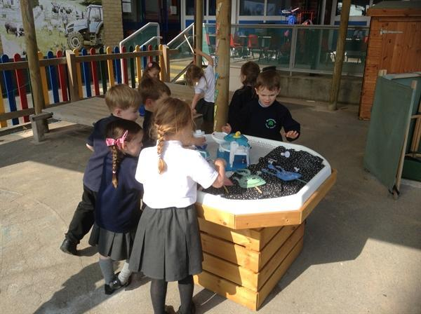 Exploring space in our outdoor area!