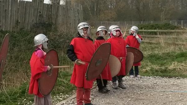 Roman soldiers in training!