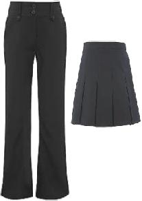 Girls, black or Grey Trousers or Skirt