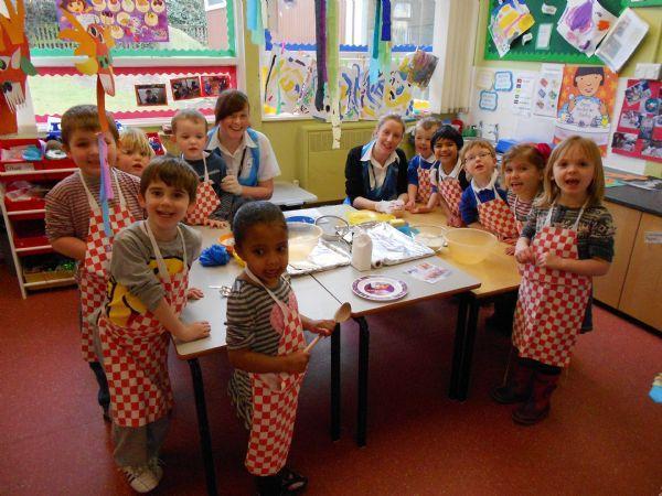 PAWS Children making clay animals