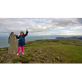 Hollie and Jokubas at the Great Orme summit