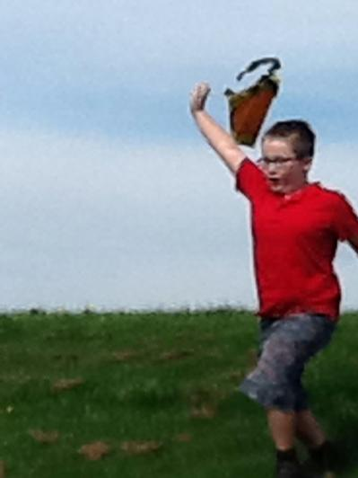 Running down hill was effective!