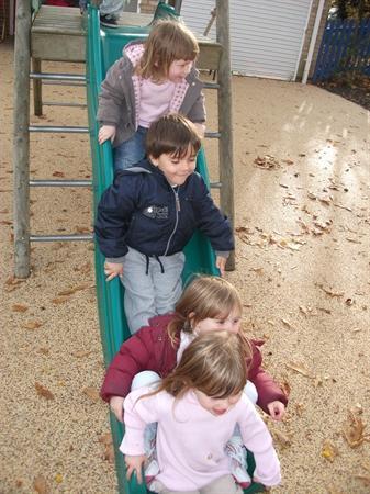 """We all love the slide at Nursery"""
