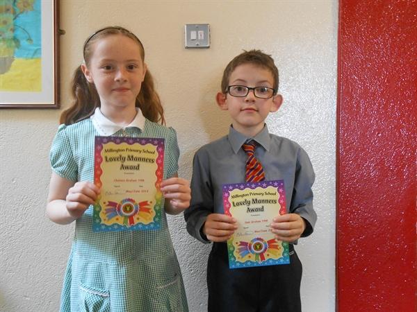 Lovely Manners Winners May/June 2013
