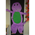 Barney Door Display