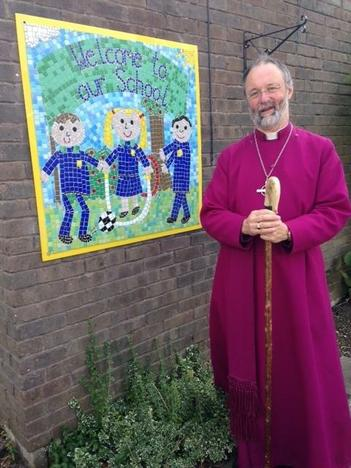 Bishop Alan was very pleased with our school!