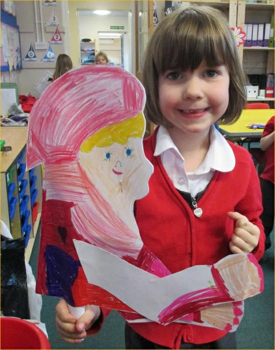 Katie enjoyed making her Little Red Riding Hood