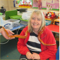 Mrs Pearson enjoyed holding the corn snake